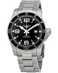 Longines Hydroconquest Automatic Black Dial Mens Watch - Metallic