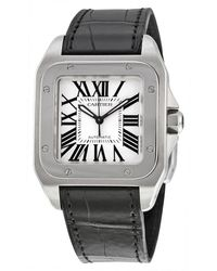 Cartier Pre-owned Santos 100 Automatic Watch - Metallic