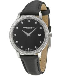 Raymond Weil Toccata Black Dial Diamond Ladies Watch -sls-20081 - Metallic