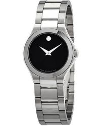 Movado Defio Quartz Black Dial Ladies Watch - Multicolour