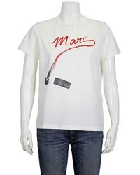 Marc Jacobs Ladies The St. Mark's T-shirt In Ivory, Brand - White