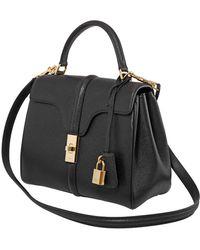 Celine Blacksmall 16 Grained Calfskin Shoulder Bag