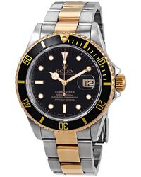 Rolex Pre-owned Submariner Black Dial Two-tone Mens Watch - Metallic