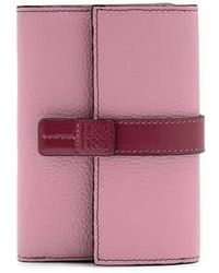 Loewe Ladies Small Vertical Wallet - Red