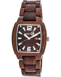 Earth Sagano Redwood Dial Red Wooden Mens Watch