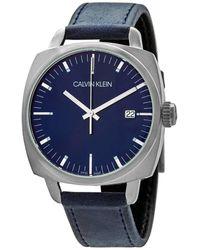 Calvin Klein Fraternity Quartz Blue Dial Mens Watch