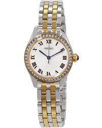 Seiko Classic Quartz Silver Dial Watch - Metallic