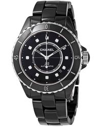 Chanel J12 Automatic Diamond Black Dial Ladies Watch
