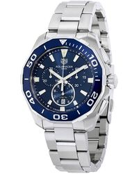 Tag Heuer - Aquaracer Chronograph Blue Dial Mens Watch - Lyst