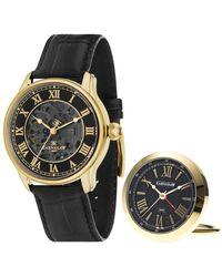 Thomas Earnshaw Longitude Automatic Black Dial Watch -02 - Metallic