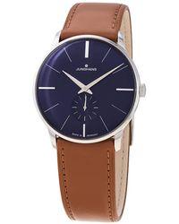 Junghans Meister Hand Wind Blue Dial Unisex Watch
