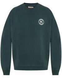 Burberry - Embroidered Logo Jersey Sweatshirt - Lyst
