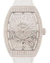 Franck Muller anguard Quartz Diamond Siler Dial Unisex Watch  32 Qz D Cd (og.bc) - Metallic