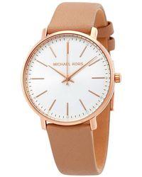 Michael Kors Pyper White Dial Ladies Watch - Pink