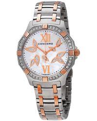 Concord Saratoga Diamond White Mother Of Pearl Dial Ladies Watch 320307 - Metallic