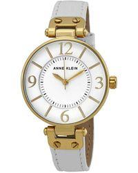 Anne Klein White Dial Ladies Watch -9168wtwt - Metallic