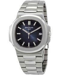 Patek Philippe Nautilus Automatic Blue Dial Unisex Watch -010 - Metallic
