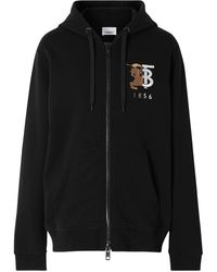 Burberry Black Logo Zipped Hoodie
