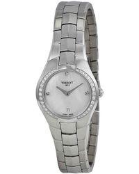 Tissot - T-round Cream Dial Stainless Steel Ladies Watch T0960096111600 - Lyst
