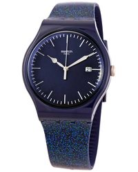 Swatch Glitter Unisex Watch - Blue