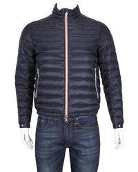 Moncler Mens Navy Daniel Lightweight Down Jacket, Brand - Blue