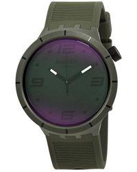 Swatch Futuristic Green Quartz Mens Watch