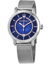 Maserati Epoca Quartz Blue Dial Ladies Watch - Multicolor