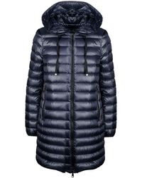 Moncler Ladies Navy Blue Quilted Coat, Brand