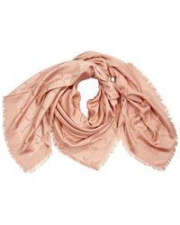 Longchamp Stole Scarves Petal Madeleine 145x145 - Pink