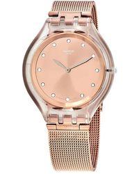 Swatch Skinelli Quartz Rose Dial Ladies Watch - Pink