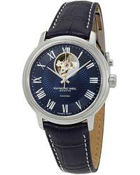 Raymond Weil - Maestro Automatic Mens Leather Watch -stc-00508 - Lyst