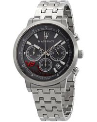 Maserati Granturismo Chronograph Black Dial Mens Watch - Metallic