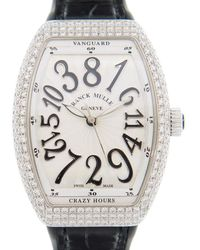Franck Muller Vanguard Quartz Diamond White Dial Ladies Watch V32chd(acnr) - Metallic