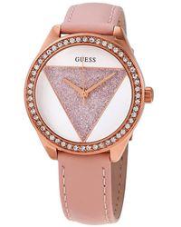 Guess Tri Glitz Quartz Crystal Silver Dial Ladies Watch - Multicolor