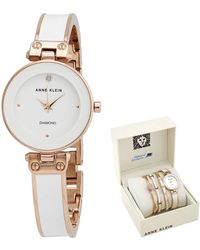 Anne Klein Quartz White Dial Watch