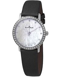 Blancpain Ultraplate Automatic Mother Of Pearl Dial Diamond Ladies Watch -4654-95a - Black