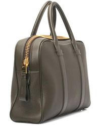 Tom Ford Wide Leather Briefcase - Green