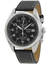Seiko Neo Sports Chronograph Black Dial Mens Watch