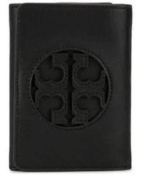 Tory Burch Miller Medium Flap Wallet - Black