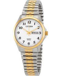 Citizen - Chronograph Quartz White Dial Two-tone Watch -93a - Lyst