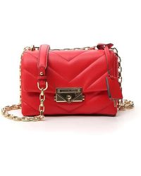 Michael Kors Cece Extra Small Chain Cross Body Bag - Red