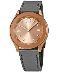 Movado - Bold Rose Dial Charcoal Gray Silicone Ladies Watch - Lyst