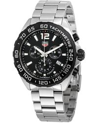Tag Heuer Formula 1 Chronograph Black Dial Mens Watch - Multicolour