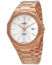 Edox Delfin Automatic Silver Dial Watch  37rm Air - Metallic