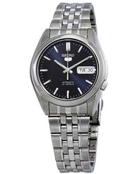 Seiko 5 Automatic Blue Dial Mens Watch - Metallic