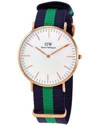Daniel Wellington Classic Quartz White Dial Mens Watch - Metallic