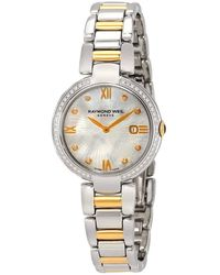 Raymond Weil Shine White Mother Of Pearl Dial Ladies Watch -sps-00995 - Metallic