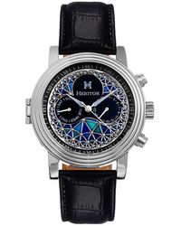 Heritor Legacy Automatic Multi-color Dial Mens Watch - Black