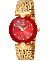 Oniss On8777s Red Dial Ladies Watch -0lgrd