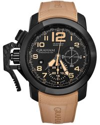 Graham Chronofighter Chronograph Automatic Black Dial Mens Watch